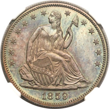 ha fun 50c 1859 Coin Rarities & Related Topics: Liberty Seated Half Dollars on Platinum Night