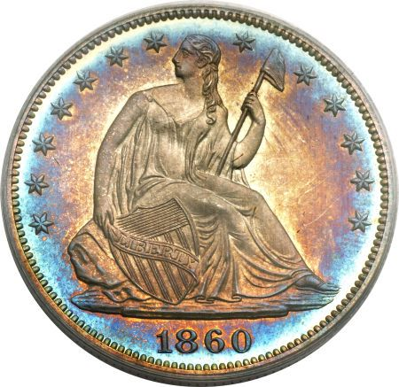 ha fun 50c 1860 Coin Rarities & Related Topics: Liberty Seated Half Dollars on Platinum Night