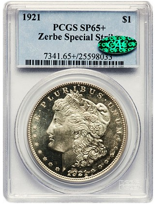 zerbe sp65 Origins of the 1921 Zerbe Proof Morgan Silver Dollars are Uncertain 