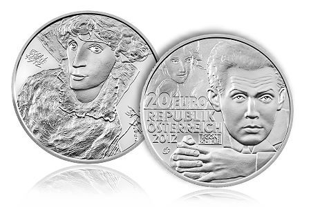"Egon 20Euro Egon Schiele Europa Silver Program ""Artists"" 2012"