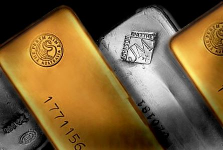 gold silver bars large1 Gold Climbs Above 200 day Average, Bernanke Dovish Again while Eurozone Still Insolvent