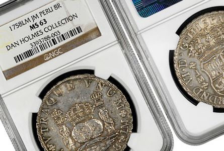 Goldberg's to Auction NGC-Certified Dan Holmes Latin American Coinage