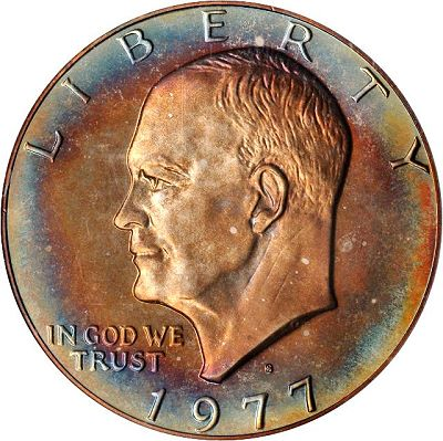ike dollar toned When dealing with Eisenhower Dollars, grade is everything.