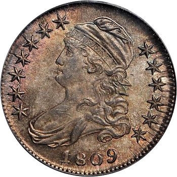 sb 50c 1809 Coin Rarities & Related Topics: Rarities Night, Part 2, Half Dollars