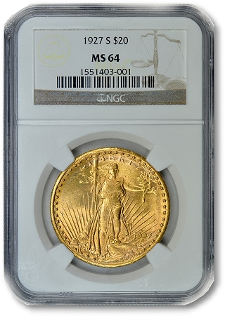 1927 S20Dollar GreatCollections to auction rare $3 gold piece, graded by PCGS