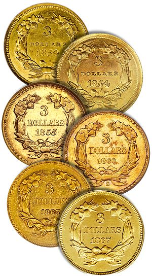 dw 3 hard Coins That I Never See With Good Eye Appeal, Part Three: Three Dollar Gold