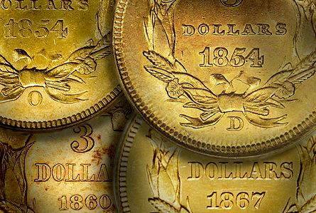 Coins That I Never See With Good Eye Appeal, Part Three: Three Dollar Gold