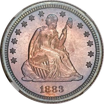 gr 0412 1883 25c Coin Rarities & Related Topics: Pleasing Coins on Platinum Night