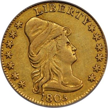 gr 250 4 Coin Rarities & Related Topics: Early U.S. $2½ Gold Coins