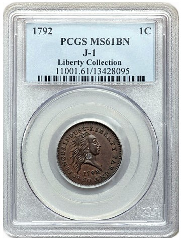 ji Coin Rarities & Related Topics: 1792 Silver Center Copper Cent Pattern Brings $1.15 Million