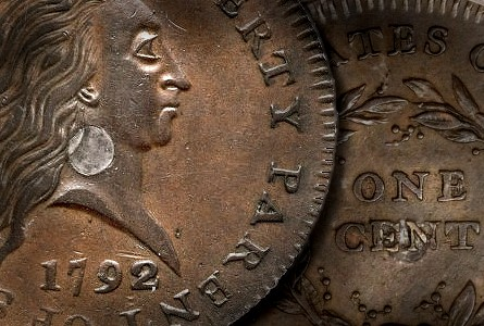 Coin Rarities & Related Topics: 1792 Silver Center Copper Cent Pattern Brings $1.15 Million