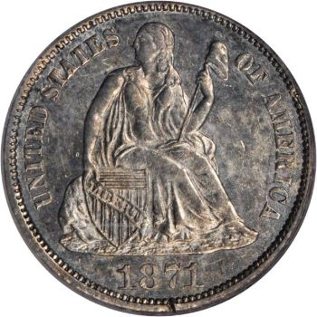 sb balt 1871 10c Coin Rarities & Related Topics: Rarities Night, Part 3, Dimes and Some Coppers