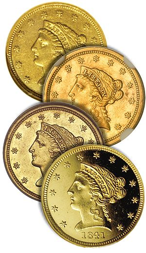 1841 250 ha group1 The Controversy over 1841 Quarter Eagles, Part 3, The physical characteristics of Proof coins