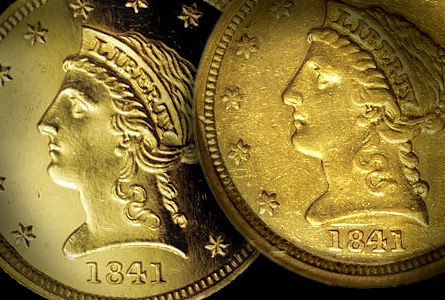 1841 250 pr ms Coin Rarities & Related Topics: The Controversy over 1841 Quarter Eagles ($2½ gold coins), Part 1