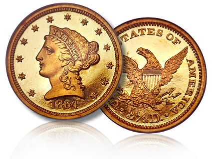 1864 proof 250 ha fun20111 Coin Rarities & Related Topics: Not Yet Famous 1864 Quarter Eagles ($2½ gold coins)