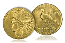 Historic $3 Million 1907 Proof Rolled Edge Eagle Headlines May-June 2012 Long Beach Expo