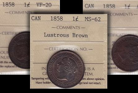 ca 1858 cents toronto Canada's First Cents Up For Auction