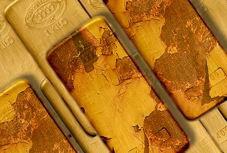 gold bar rust Toxic Euro Corroding Gold