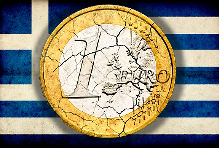 greek crack euro Gold Hits 4 Month Low as Markets Fear Greece