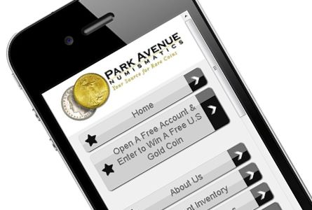 Park Avenue Numismatics, Launches Mobile Website