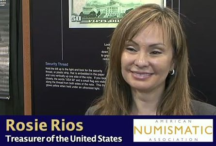 Treasurer Rosie Rios at the ANA National Money Show