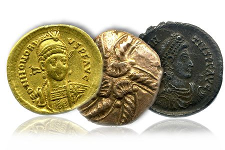AncientCoins Ancient Coins Found by Metal Detectorists in Bedforshire Star in London Auction