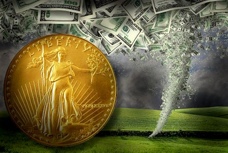 coin tornado1 Store Precious Metals in a Depository to Avoid Weather Disasters
