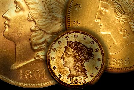 dw usgold under10k1 20 Popular 19th Century US Gold Coins Priced Below $10,000