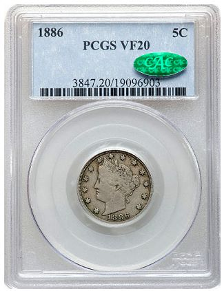 Liberty Nickel PCGS certified US Coin