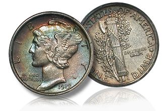 gr merc2 10c Coin Rarities & Related Topics: Collecting Silver Dimes by Design Type
