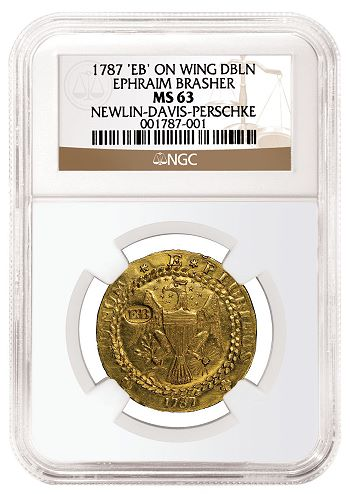 ngc brasher obv NGC Certifies Brasher Doubloon Considered the Finest Known and Valued at $10 Million