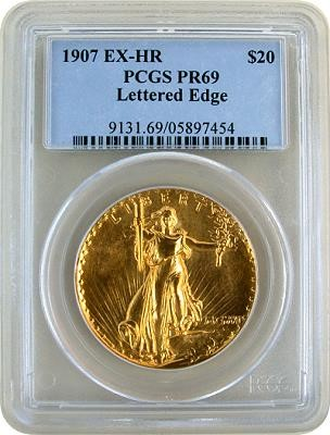1907 uhr pr69 saint holder Coin Auctions: Proof 69 Ultra High Relief $20 Saint brings $2.7 MIllion at Stacks Bowers Auction