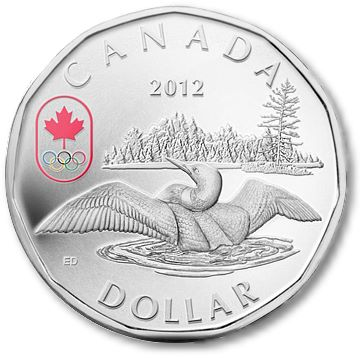 Loonie Royal Canadian Mint Wishes Canadas Athletes Luck With the 2012 Lucky Looney Circulation Coin