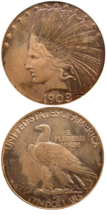 This is perfect example of what is seriously hurting EVERYONE in the hobby. A 1908D $10 badly doctored puttied coin. Apparently this coin was being sold by a vendor on Ebay.