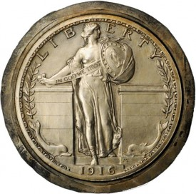 SLQBronzeCast11 275x272 Coin Rarities & Related Topics: The ANA Rarities Night, Part 1: Standing Liberty Quarters, Cents and 1796 coins