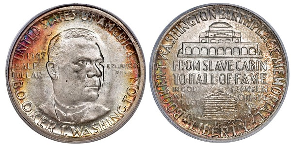 booker t washington commem African Americans on US Coins: Representation & Discovery (Part 1)