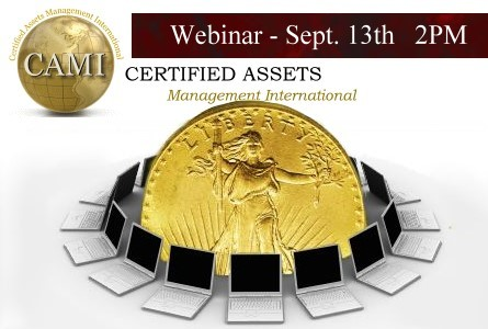 Certified Assets Management Int. (CAMI) to Hold Webinar on New Hard Asset Collateral Lending Program Sept 13th