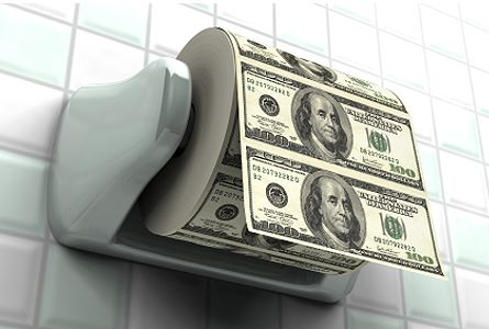 dollar toilet paper We Don't Need Inflation Of The Money Supply