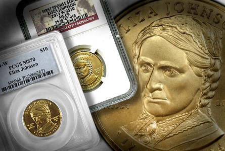 2011-W Eliza Johnson $10 Gold Coin
