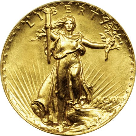 gr UHR ha Morse Coin Rarities & Related Topics: Ultra High Relief Saint Gaudens $20 Gold Pattern Realizes $2.76 Million