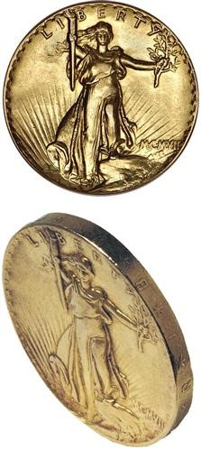 gr UHR sub60 Coin Rarities & Related Topics: Ultra High Relief Saint Gaudens $20 Gold Pattern Realizes $2.76 Million