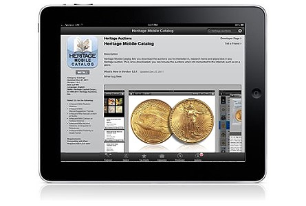 Heritage Auctions debuts free Heritage Mobile Catalog for iPad