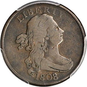 1808 7 halfcent c1 sb Stacks Bowers offers Newly Discovered Rare 1808/7 C 1, B 1 Half Cent 