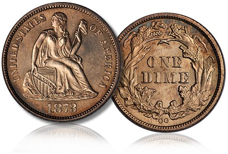1873 cc 10c unique1 Rare Dime Coin Sells for Record $1.84 Million at Auction in Philadelphia
