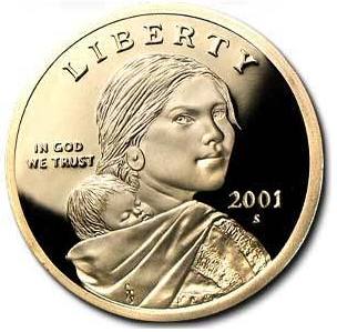 2001 Proof Sac Dollar
