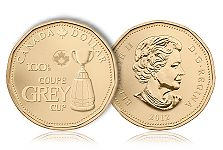 Royal Canadian Mint Celebrates 100th Grey Cup With One-Dollar Circulation Coin