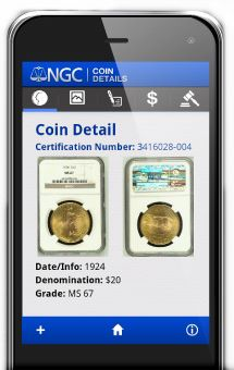 NGC Coin Details Numismatic Guaranty Corporation™ (NGC®) Releases First Mobile App: NGC Coin Details