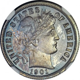 Proof1901DimeObv1 275x275 Coin Rarities & Related Topics: Select Rarities in Pre ANA Platinum Night event
