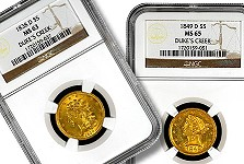 Duke's Creek Collection – Finest Known Dahlonega $5 Gold Video