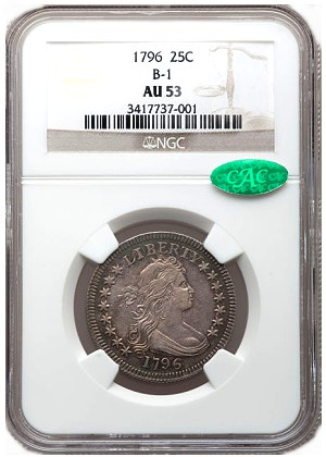 gr cal 25c Coin Rarities & Related Topics: Very Early U.S. coins in Southern California Auctions